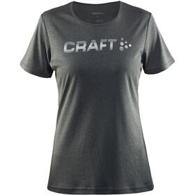Craft W's Prime Logo Tee Dk Grey Melange